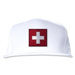Switzerland Flatbill Cap (White)