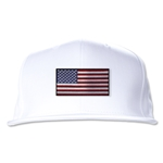 USA Flatbill Cap (White)