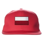 Poland Flatbill Cap (Red)
