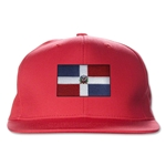 Dominican Republic Flatbill Cap (Red)