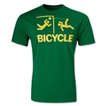 Who Are Ya Designs Bicycle Kick Youth T-Shirt (Green)