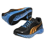 PUMA Bioweb Elite Running Shoe (Black/Orange/Malibu Blue)