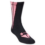 Under Armour Ignite Crew Sock (Black/Pink)