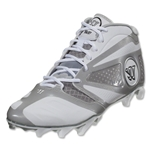 Warrior Burn 7 Mid Cleat (White)