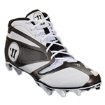 Warrior Burn 7 Mid Cleat (White/Black)