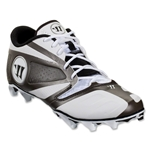 Warrior Burn 7 Low Cleat (White/Black)