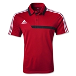 adidas Tiro 13 CL Polo (Red/Blk)