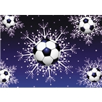 Soccer Snow Christmas Card