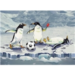 Holiday Cards-Soccer Penguins