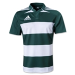 adidas Hooped Rugby Jersey (Dark Green/White)