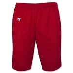 WARRIOR COLLEGIATE-CUT PRACTICE Lacrosse Shorts (Red)