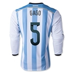 Argentina 2014 GAGO LS Home Soccer Jersey