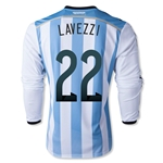 Argentina 2014 LAVEZZI LS Home Soccer Jersey