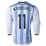 Argentina 2014 M. RODRIGUEZ LS Home Soccer Jersey