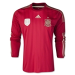Espana 2014 Jersey de Futbol Local (mangas largas)
