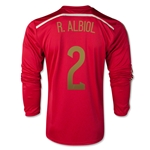 Spain 2014 R. ALBIOL 2 LS Home Soccer Jersey