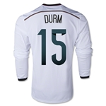 Germany 2014 DURM LS Home Soccer Jersey