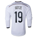 Germany 2014 GOTZE LS Home Soccer Jersey
