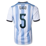 Argentina 2014 GAGO Home Soccer Jersey