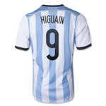 Argentina 2014 HIGUAIN Home Soccer Jersey