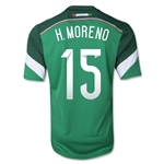 Mexico 2014 H. MORENO 15 Jersey de Futbol Local
