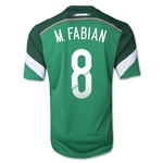 Mexico 2014 M. FABIAN 8 Jersey de Futbol Local