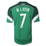 Mexico 2014 M LAYUN 7 Jersey de Futbol Local