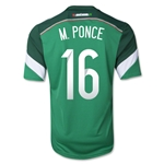 Mexico 2014 M PONCE 16 Home Soccer Jersey