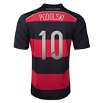 Germany 2014 PODOLSKI Away Soccer Jersey