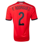 Mexico 2014 F RODRIGUEZ Away Soccer Jersey