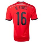Mexico 2014 M PONCE Away Soccer Jersey