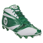 Warrior Burn 7 Mid Cleat (White/Green)