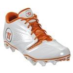 Warrior Burn 7 Low Cleat (White/Orange)