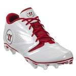 Warrior Burn 7 Low Cleat (White/Red)
