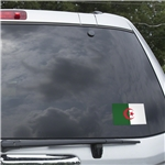 Algeria Flag Graphic Window Cling