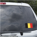 Belgium Flag Graphic Window Cling