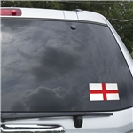 England Flag Graphic Window Cling
