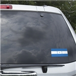 Honduras Flag Graphic Window Cling