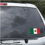 Mexico Flag Graphic Window Cling