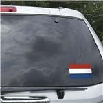 Netherlands Flag Graphic Window Cling