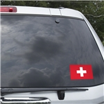 Switzerland Flag Graphic Window Cling