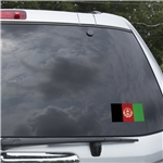 Afghanistan Flag Graphic Window Cling