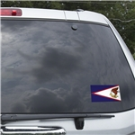American Samoa Flag Graphic Window Cling