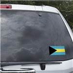 Bahamas Flag Graphic Window Cling