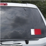 Bahrain Flag Graphic Window Cling