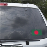 Bangladesh Flag Graphic Window Cling