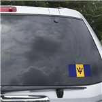 Barbados Flag Graphic Window Cling