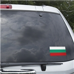 Bulgaria Flag Graphic Window Cling
