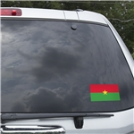 Burkina Faso Flag Graphic Window Cling