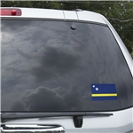 Curacao Flag Graphic Window Cling